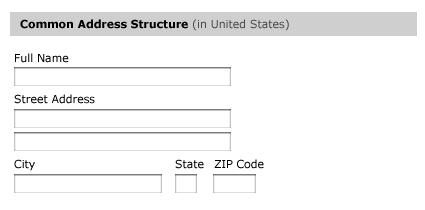 International Address Fields in Web Forms :: UXmatters