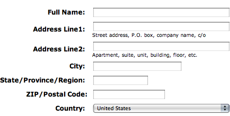 Generic Address Format
