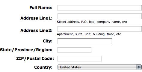 International Address Fields In Web Forms Uxmatters