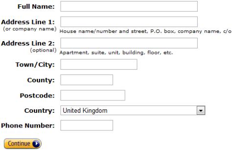 Задача 'Заполнить адрес'