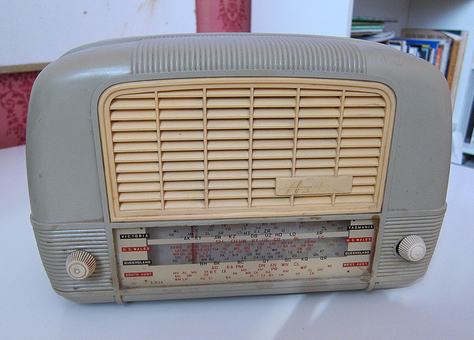 A classic radio from the 1950s