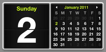 multi-calendar date widget mac