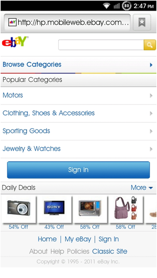 ebay motors app for android