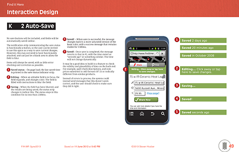 typical page of a ui specification with diagrams on the right and descriptions on the - Ui Designer Tools