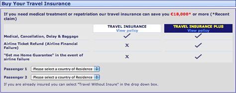 Travel Insurance Ryanair Travel Insurance