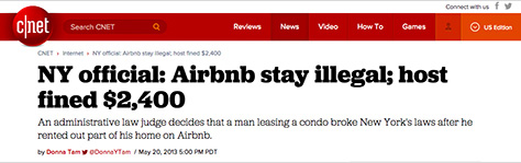 Airbnb in the news