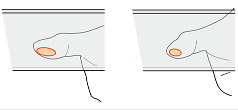 The contact patch can vary in size and shape