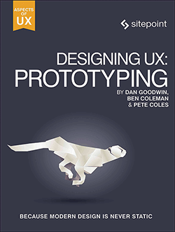 Cover of Designing UX: Prototyping