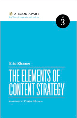 Cover: The Elements of Content Strategy