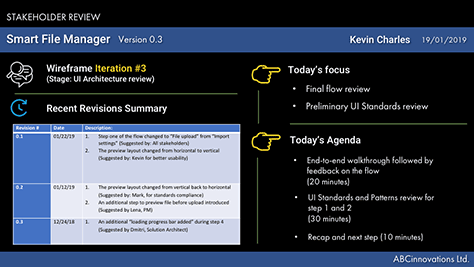 Example slide for setting expectations